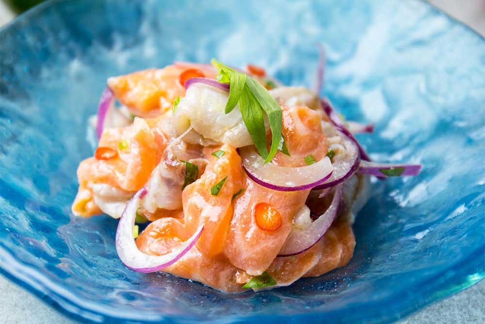 """Севиче из лосося """"под бокальчик маргариты"""" – кулинарный рецепт"""