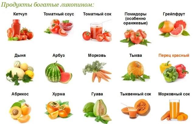 Ликопин - свойства и содержание в продуктах   методы лечения заболеваний