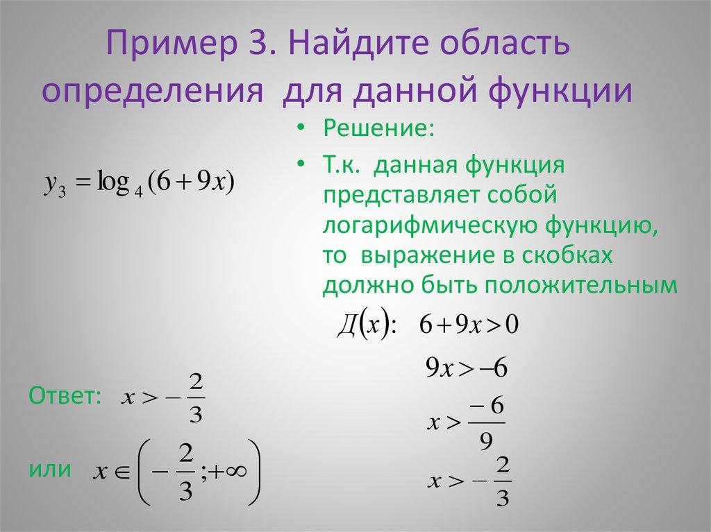 Область определения функции – основные сведения
