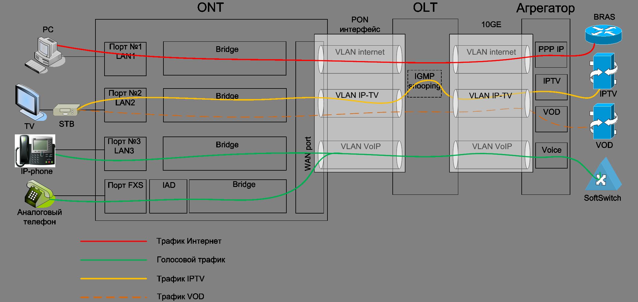 Основные отличия gepon и gpon сетей - tvbs