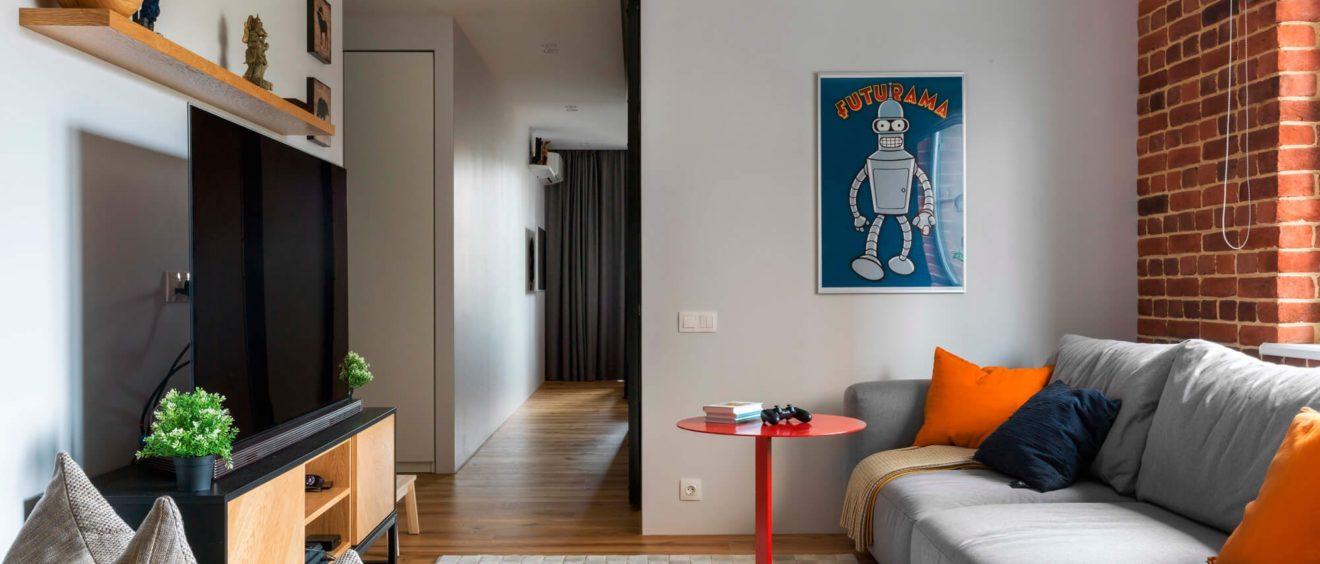 Стиль лофт в интерьере квартиры: дизайн гостиной, кухни, прихожей