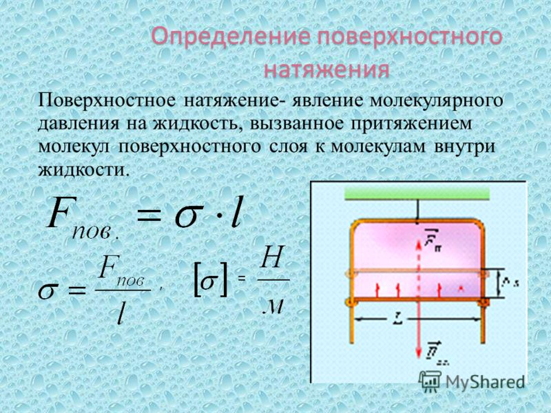 Лекция 12. поверхностное натяжение жидкостей. осмос