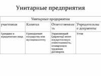 Унитарные предприятия, типы и цели создания