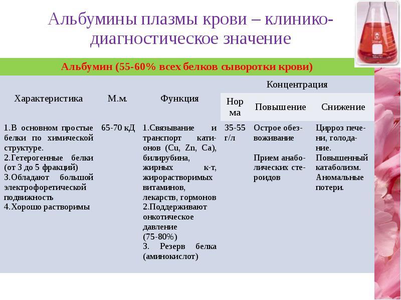 Что такое альбумин в крови? норма, причины повышения и понижения - kardiobit.ru