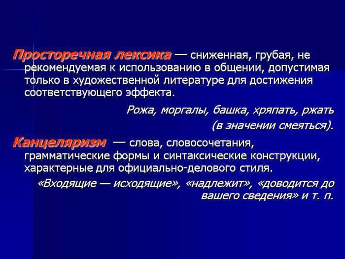 Примеры просторечий в русском языке