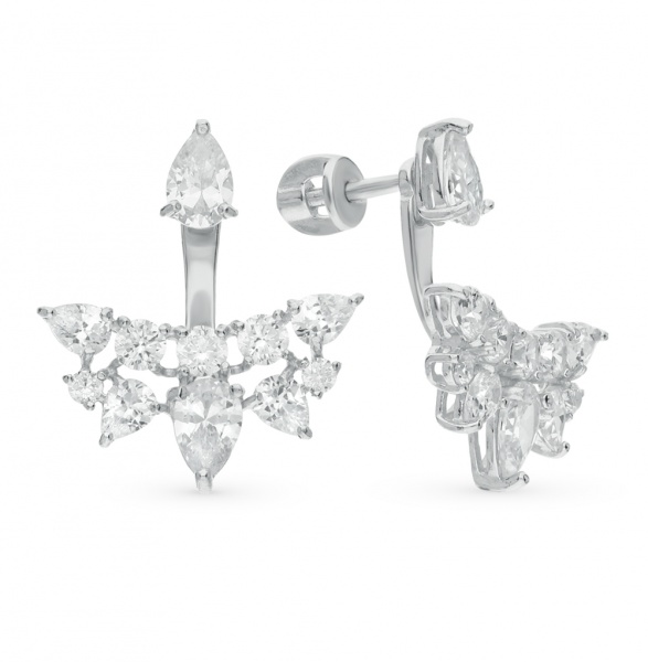 Пусеты с бриллиантами: какие бывают, когда и с чем носить, фото