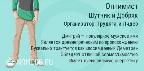 Значение имени дмитрий. тайна имени дмитрий