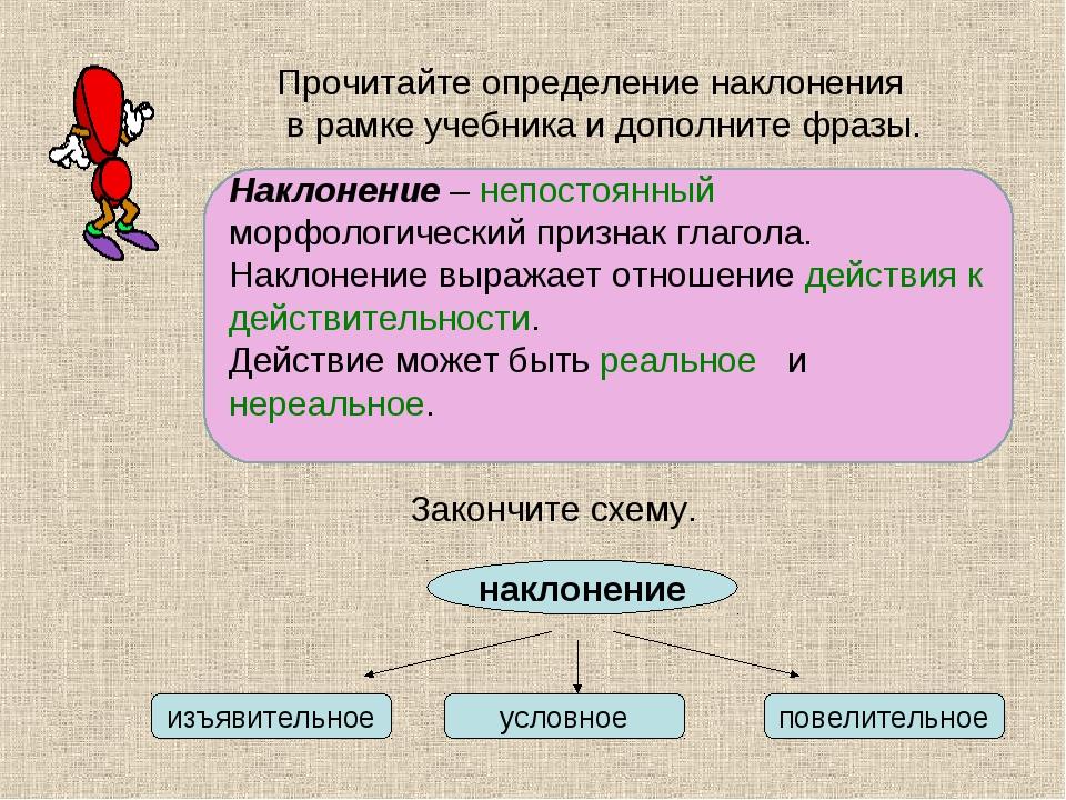 Наклонения глаголов в русском языке