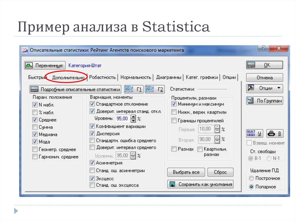 Описательные статистики