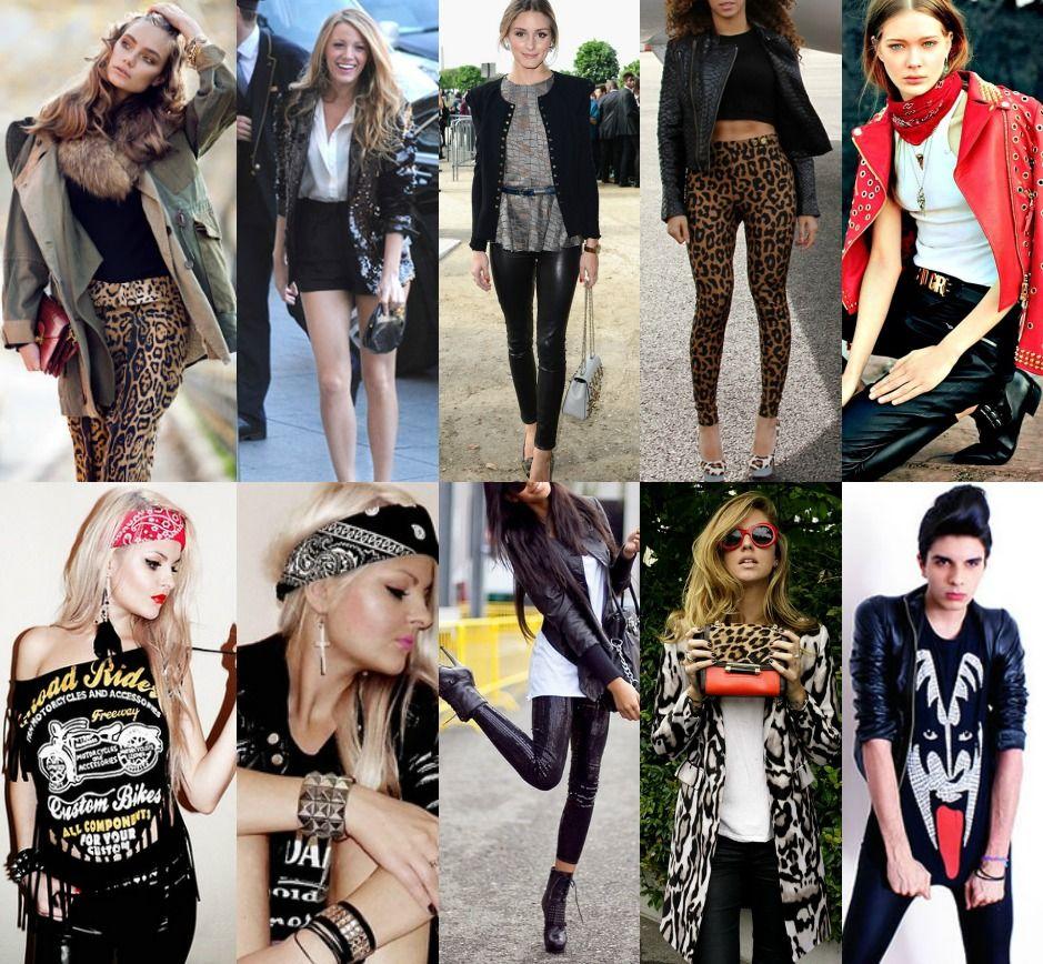 Глэм рок стиль в одежде женщины и мужчины. glam rock одежда, прически, обувь