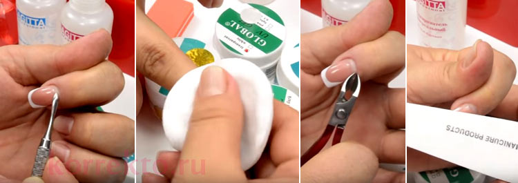 ᐉ коррекция наращивания ногтей в домашних условиях. коррекция отросшего ногтя в домашних условиях. правильно ли проводит коррекцию ваш мастер ➡ klass511.ru