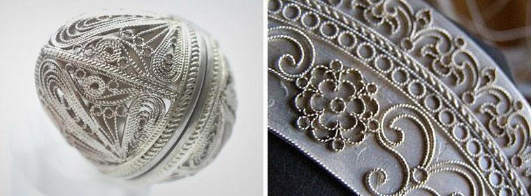 Ювелирные техники: филигрань, скань, зернь и чернение
