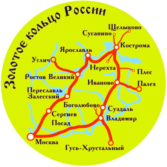 Какие города входят в золотое кольцо россии