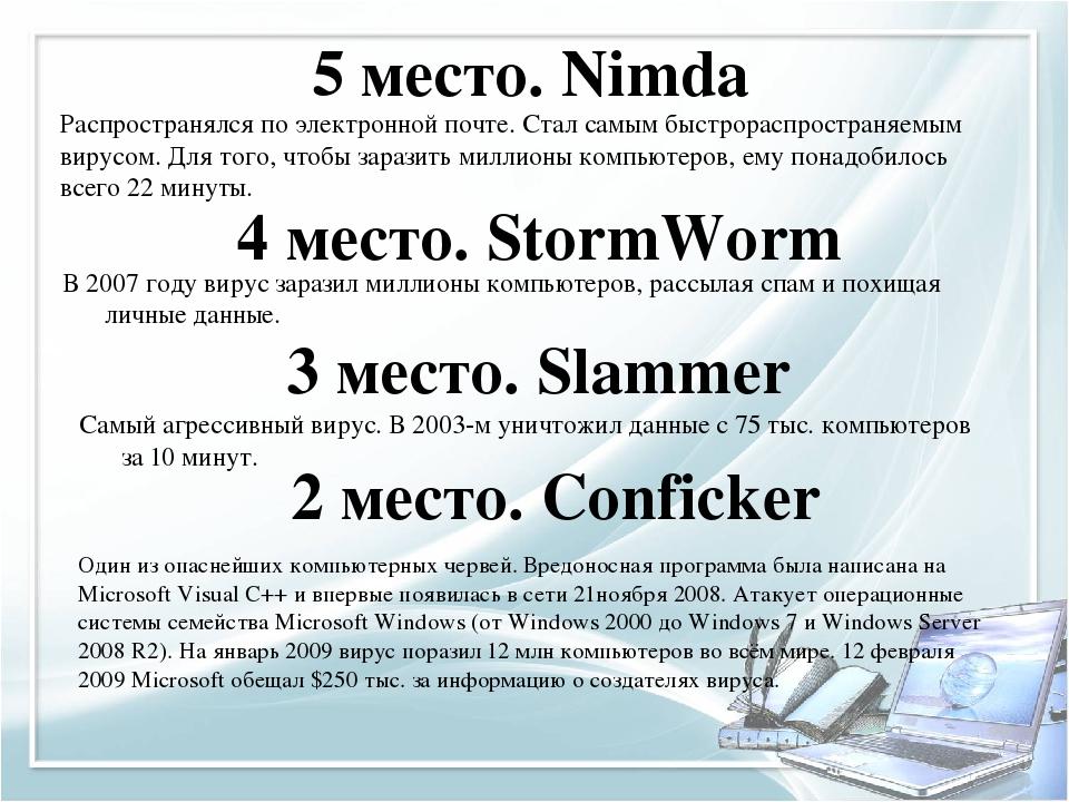 Компьютерные вирусы и методы борьбы с ними