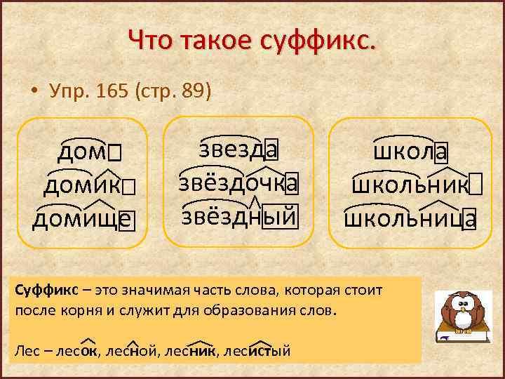 Суффиксы существительных - правила (таблица с примерами)