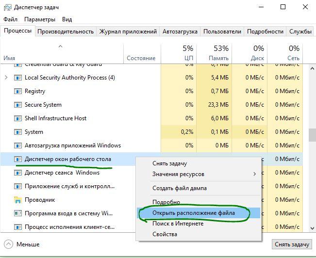 Информация dwm.exe - скачать и исправить - winpcware