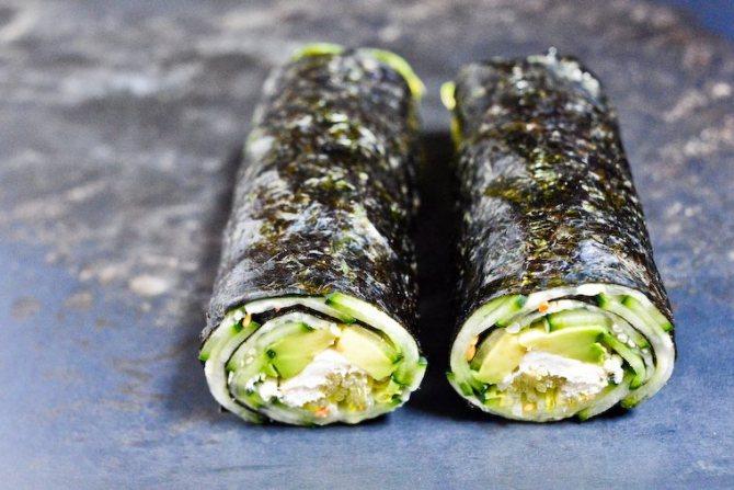 Водоросли нори — полезные свойства, калорийность и рецепты блюд