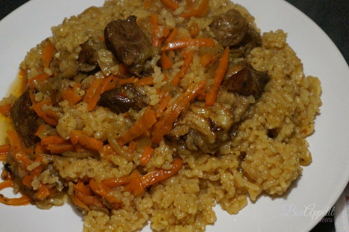 Правильное соотношение риса, воды, мяса, моркови и лука для плова