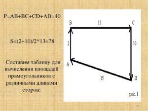Периметр и площадь треугольника