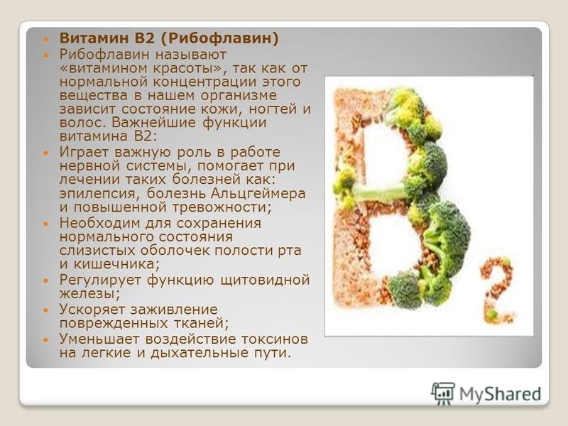Рибофлавин показания к применению (витамин b2, riboflavin)