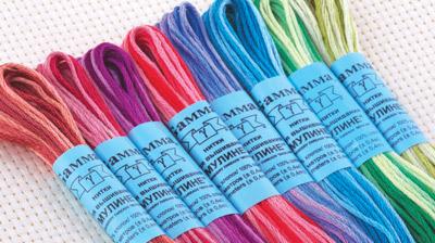 Нитки меланж и мультиколор для вышивки: чем отличаются, как ими вышивать | крестик