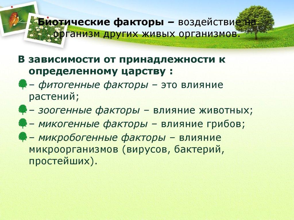 Биотические факторы - сайт по биологии