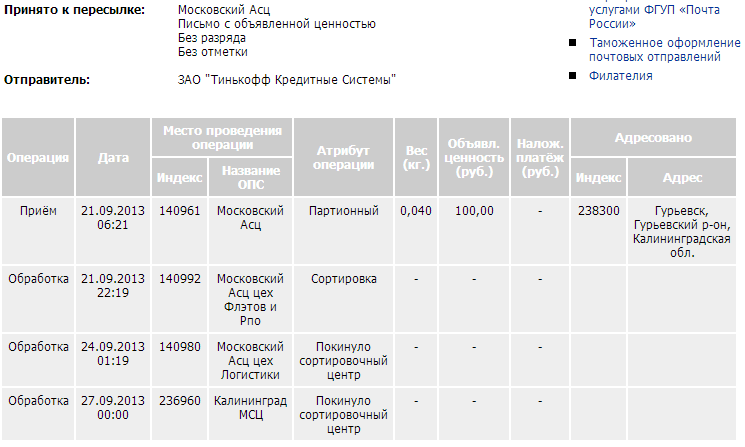 Московский асц цех логистики: заказное письмо. что это такое   monews.ru