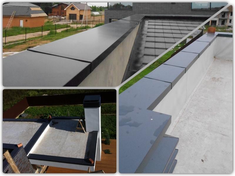 Для чего нужен парапет крыши: особенности элемента, подготовка и проевдение монтажа, выбор материалов, фото галерея удачных решений
