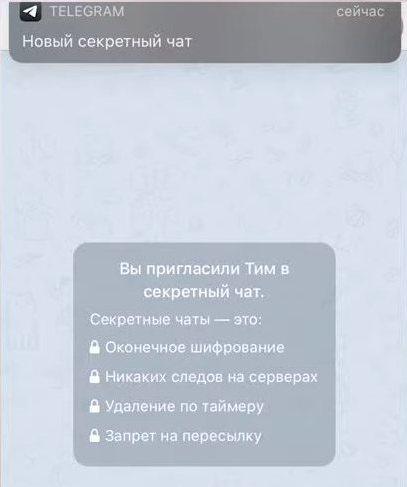 Секретный чат в телеграм - преимущества и недостатки