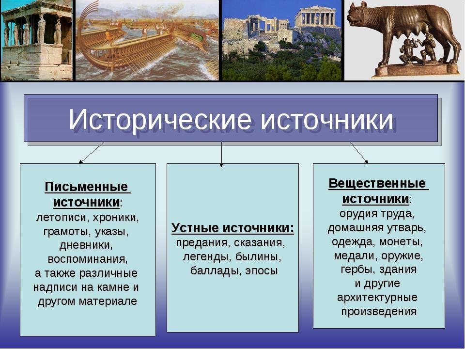 Исторические источники википедия