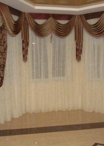Виды ламбрекенов (76 фото): что это такое, красивые буфы из вуали на окна с балконной дверью и простые модели из фетра