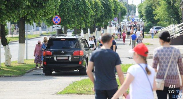 Штраф за езду по тротуару или пешеходной дорожке