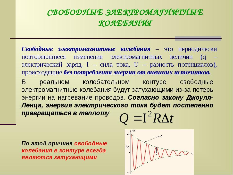 Свободные и вынужденные электромагнитные колебания. колебательный контур. превращение энергии - класс!ная физика