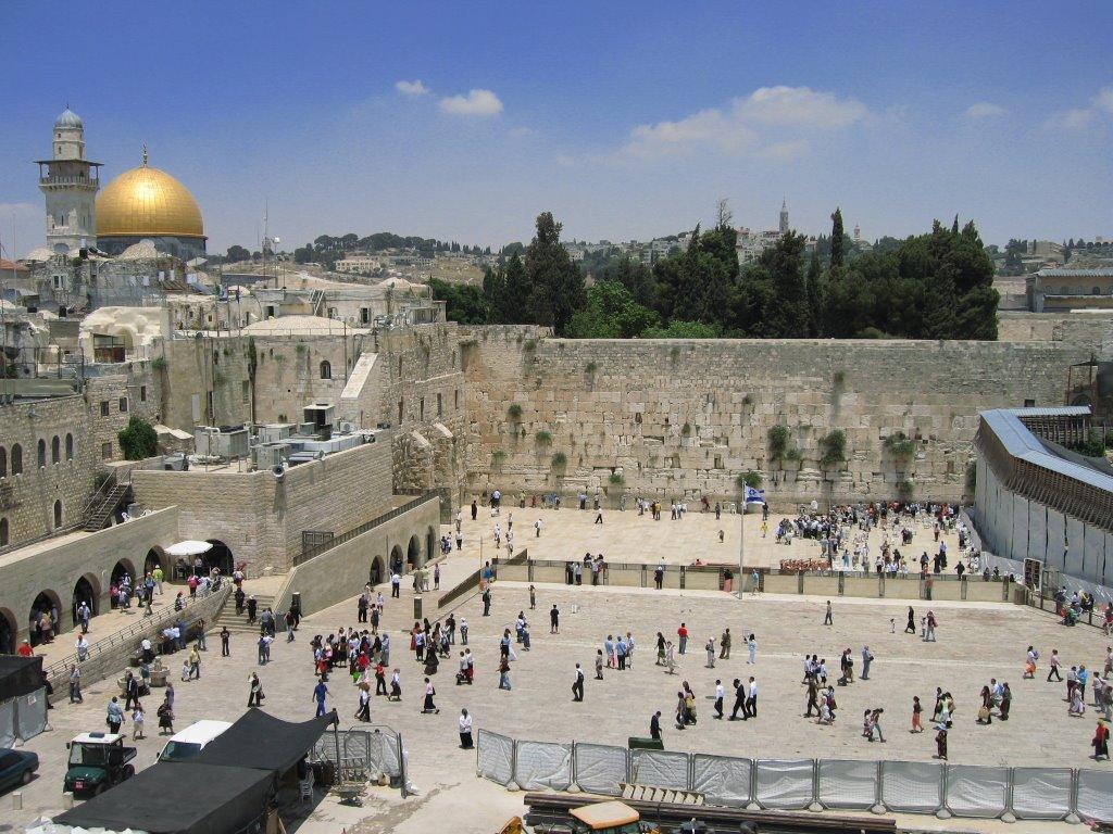 Стена плача в иерусалиме. израиль, стена плача