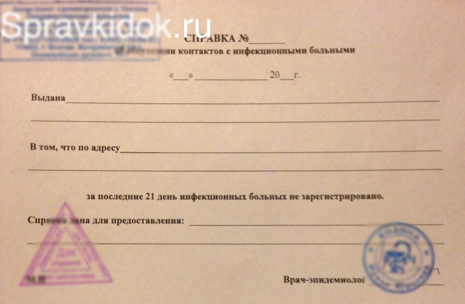 Что такое справка об эпидокружении :: businessman.ru