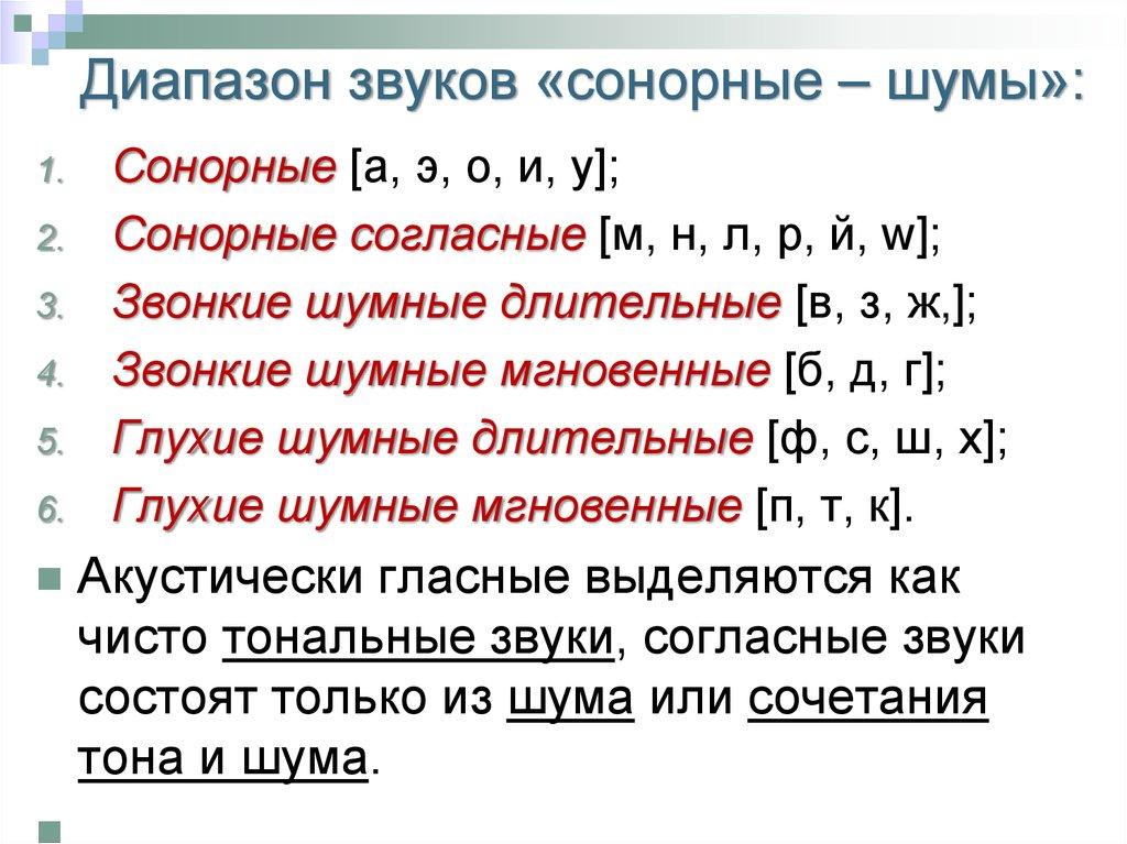 Что значит сонорные буквы. сонорные согласные в русском языке - человек и здоровье