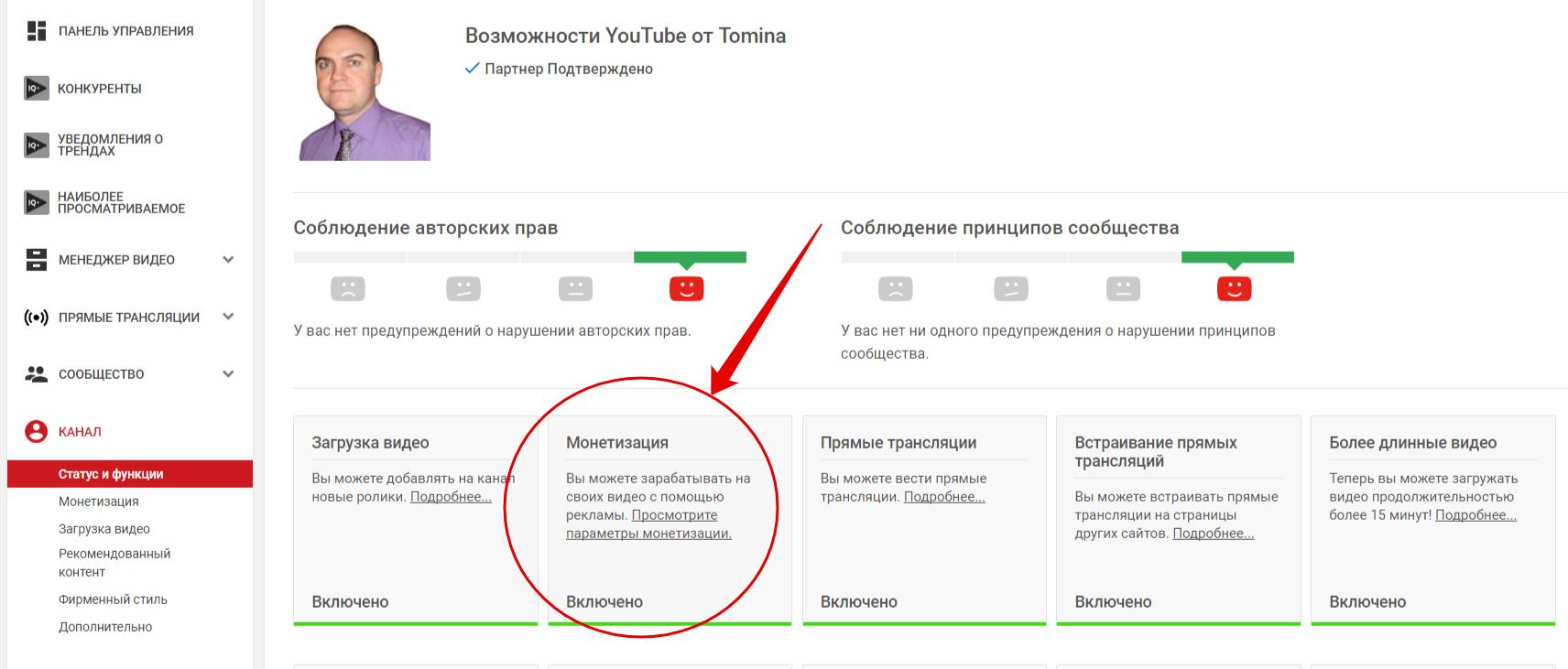 Как монетизировать youtube?