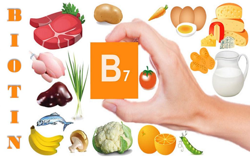 Витамин b7 (биотин): для волос, в каких продуктах содержится и для чего нужен организму, польза и вред, суточная норма