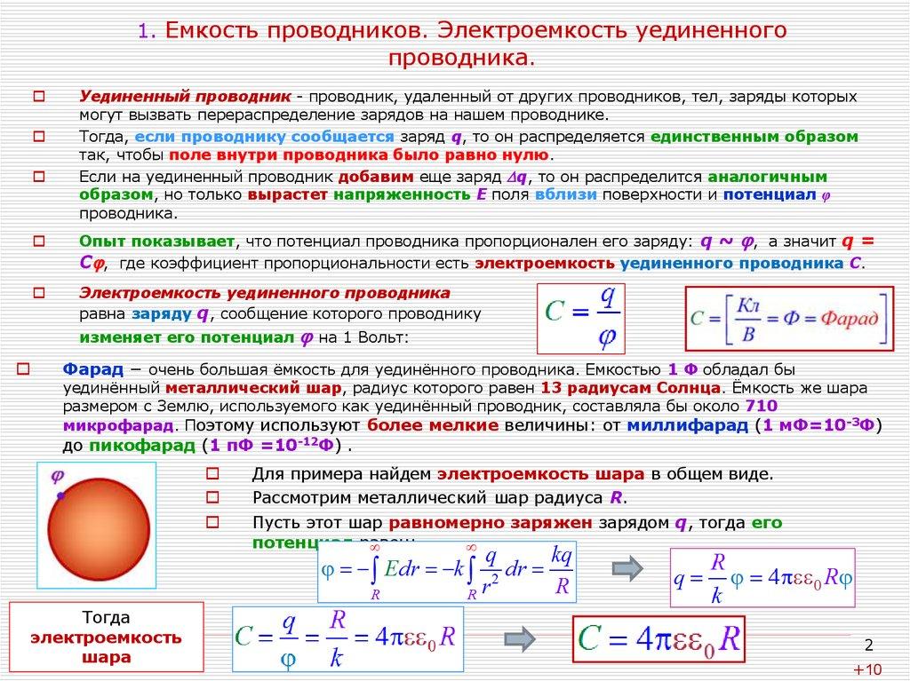 Чему равна электроемкость конденсатора?