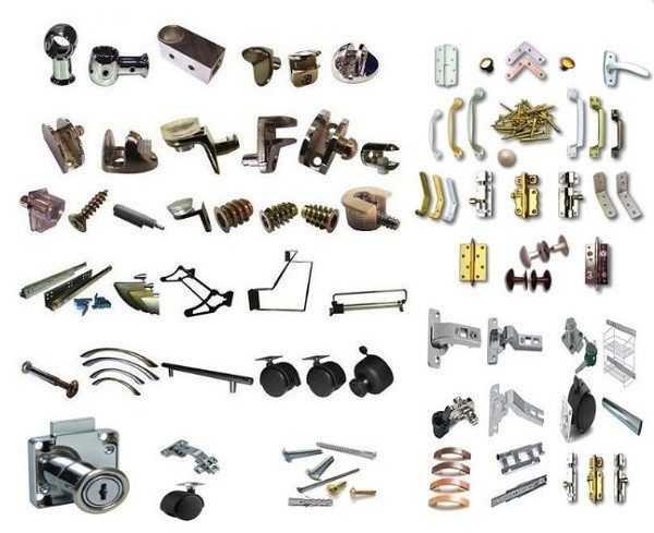 Фурнитура для мебели, основные разновидности и материалы изготовления