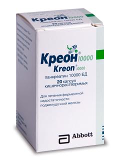 Инструкция по применению препарата креон 10000, 25000, 40000