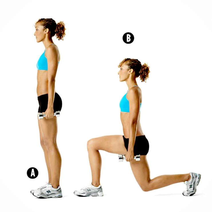 Укрепление мышц с помощью выпадов. разные виды выпадов.