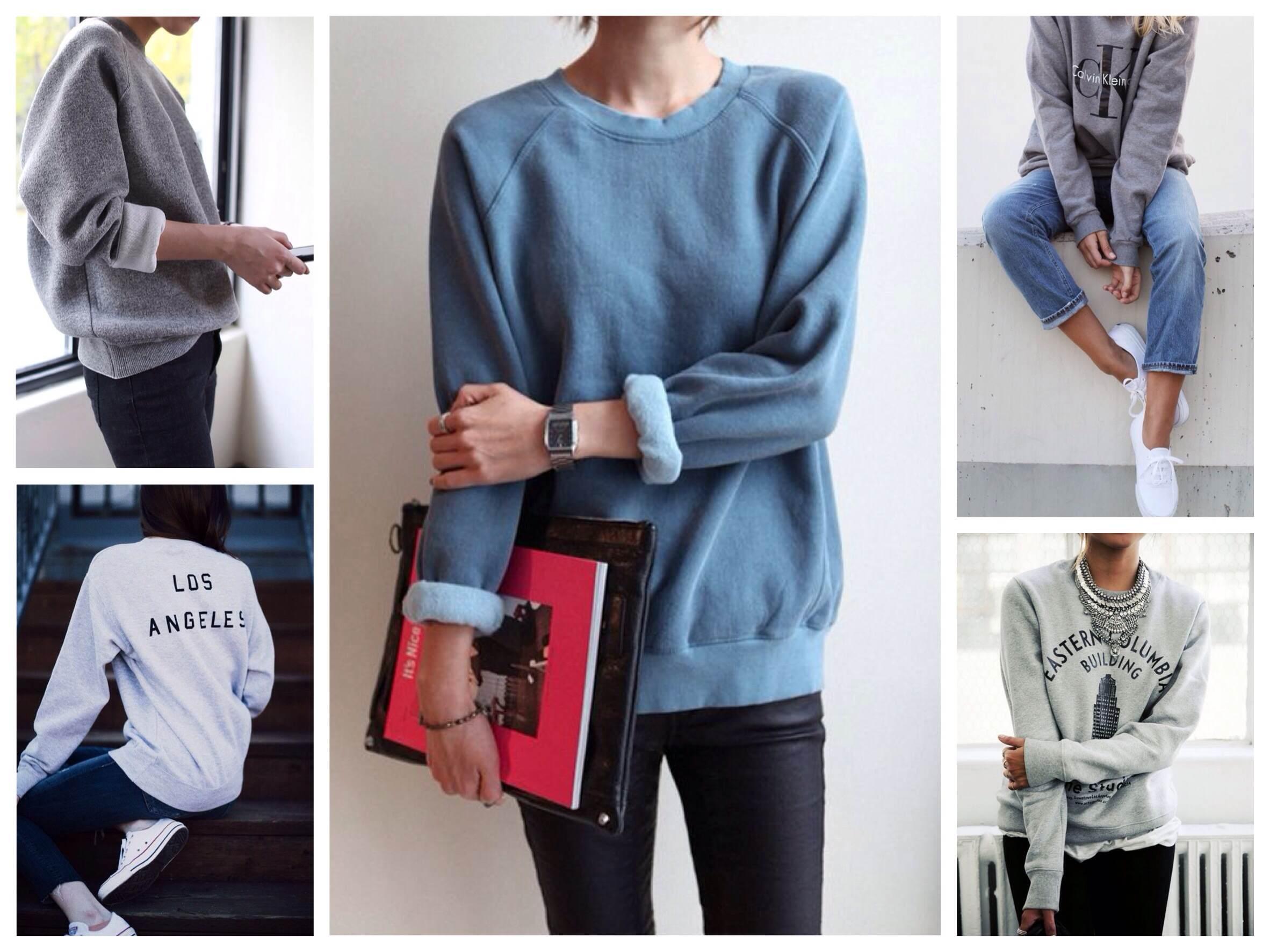 Свитшот – модный тренд женского образа
