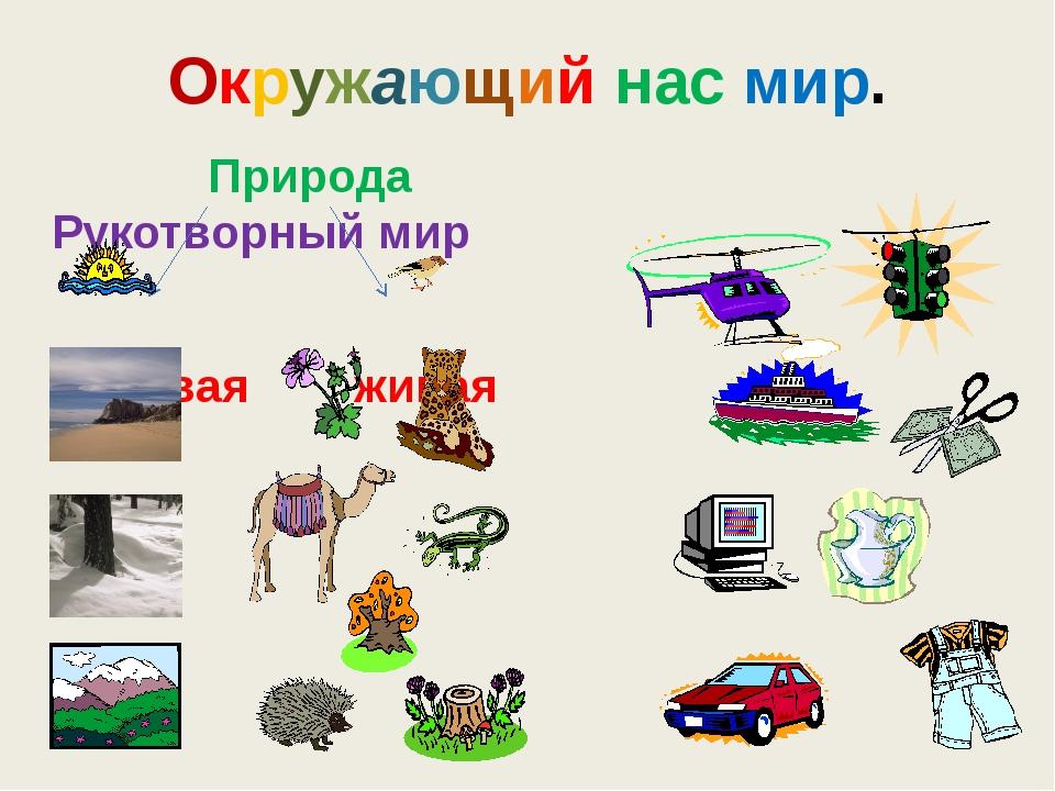 Природа и рукотворный мир – предметы (2 класс, окружающий мир) - помощник для школьников спринт-олимпик.ру
