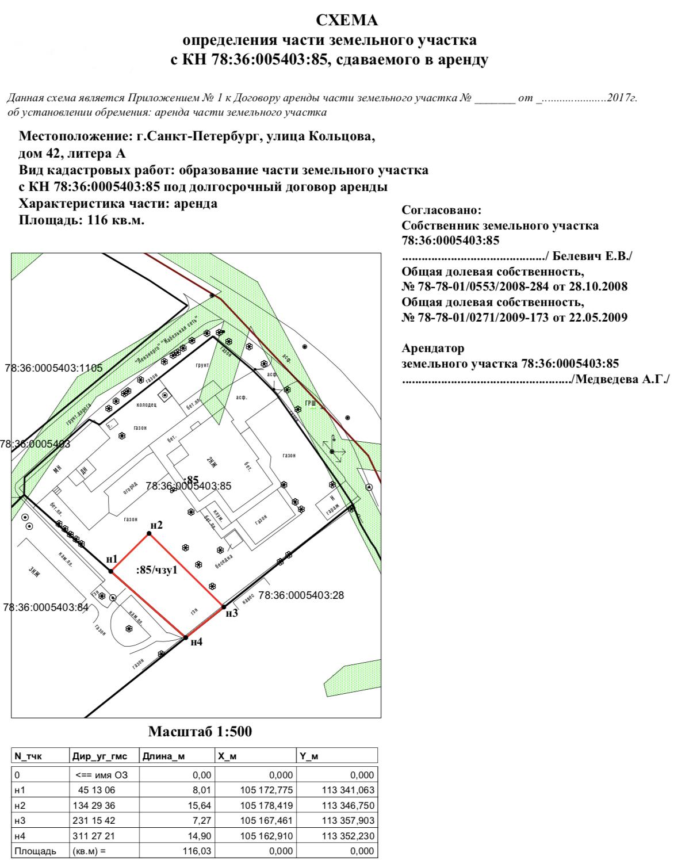 Межевой план многоконтурного земельного участка