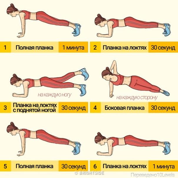 Варианты выполнения упражнения планка для мышц живота и чем полезно делать плаку для женщинwomfit
