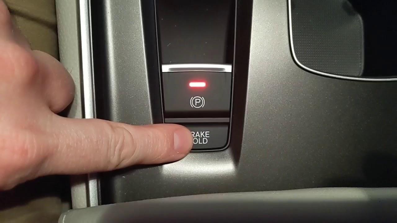 Кнопка hold на акпп. стояночный тормоз с функциейautohold- что это и как работает