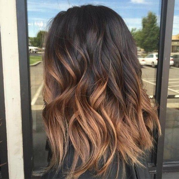 Омбре на темные волосы средней длины (66 фото): окрашивание омбре на прямых волосах в домашних условиях, уход после окрашивания