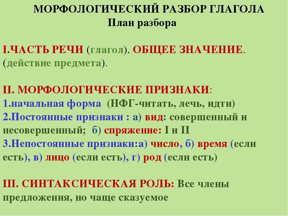 Глагол в английском языке - общие сведения