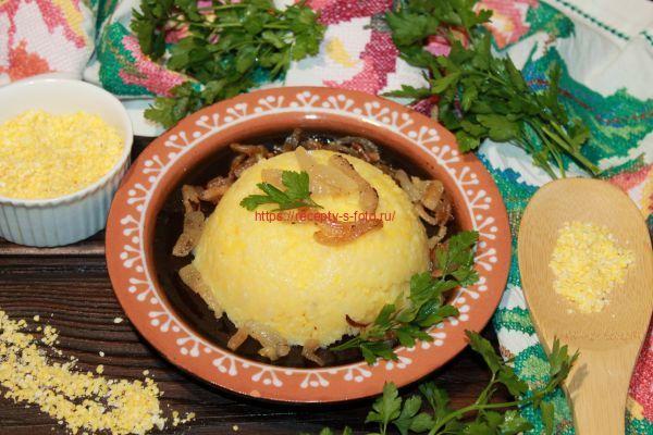 Шарики с брынзой из мамалыги – кулинарный рецепт